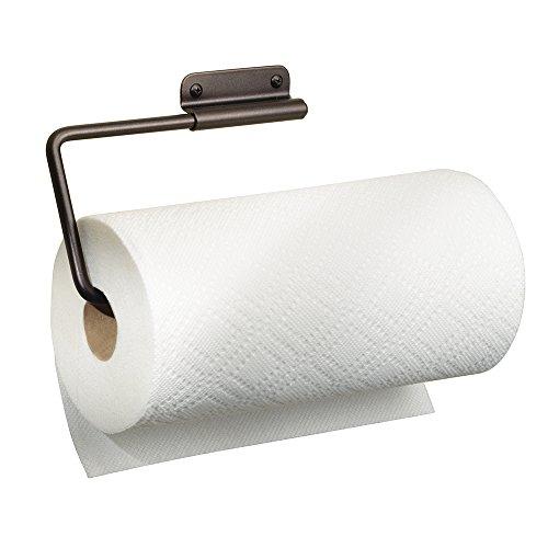 mDesign portarollos cocina - Práctico y compacto portarollos papel de color oro perla - Portarollos papel cocina de...