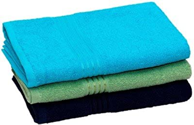 Fresh From Loom Towel for Bath Cotton Bath Ttowel for Men and Women Classic Size Premium Fabrics (3 Multi Bath Ttowel for Men and Women Classic Size Premium Fabric, Multicolor-Assorted) - 450 GSM