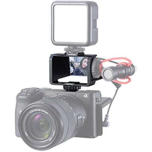 Linghuang Selfie Screen per Mirrorless Fotocamera per Sony A7R3 A7III A7II A6000 / A6300 / A6500 Cold Shoe Microfono Staffa per Fujifilm XT3 XT20 Canon Panasonic GX85 Nikon Z7 Specchietto Retrovisore