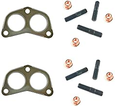 Exhaust Manifold to Pipe Gaskets + Studs + Nuts Set for Land Rover Discovery + Range Rover Classic by Allmakes 4x4