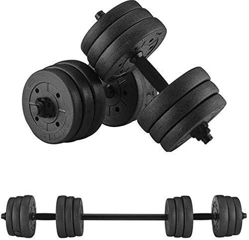 Dulcii Adjustable Weights Dumbbells Set, Total 20KG/44LBS with Connecting Rod Can Be Used As Barbell for Home Gym Work Out Training