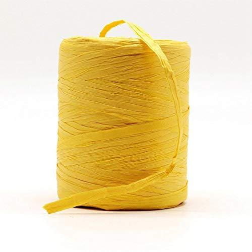 SUNYUAN 1 unid Natural Rafia Hilado Mano Crochet Foldabe Rafia Bolsa Sombrero Moda Verano Rafia Cinta Cuerda para Tejer a Mano Rafia Sombreros de Paja