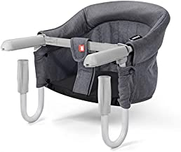 Hook On Chair Fast Table Chair High Load Design Fold Flat Storage Tight Fixing Clip on Table High Chair Removable Seat (Gray)