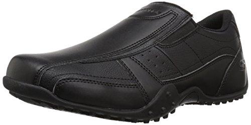 Skechers for Work Men's Elston-Kasari Food Service Shoe,black polyurethane,11.5 W US