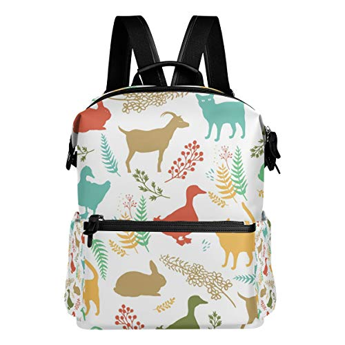 Colorido gato de aves de corral mochila para las mujeres hombres mochila...