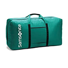 Excellent Quality: Constructed of Light weight, super durable 400 Denier Nylon material and is hand washable Roomy Main Compartment and a Zippered Interior Pocket for small items Convenient To Carry & Collapsible : This nylon duffel bag featuring two...