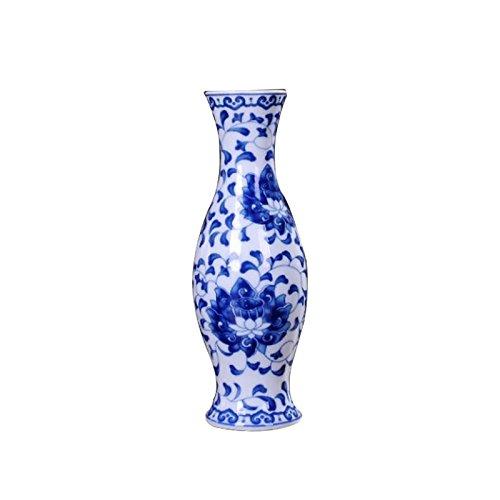 LISRUI Vasi in Porcellana Tradizionale Cinese Blu e Bianca per la Decorazione Domestica Ornamenti di vasi antichi per la Decorazione da scrivania