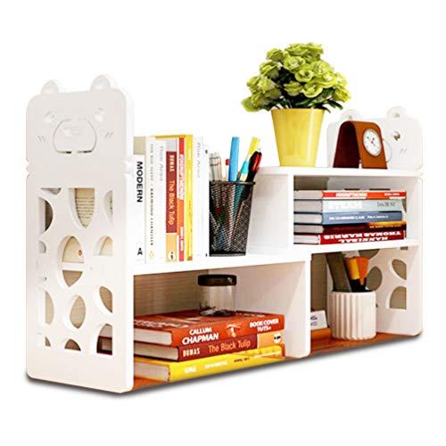 デスクトップストレージ用の小さな本棚、女性、子供、オフィス装飾アクセサリー用の男性用のミニナローデスクホワイト汎用性オーガナイザーテーブル棚、本の保管
