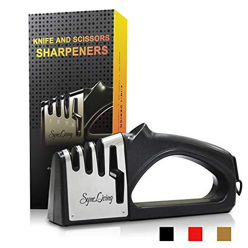 Sync Living Knife and Scissor Sharpeners,4 Stage Knife Sharpener,...