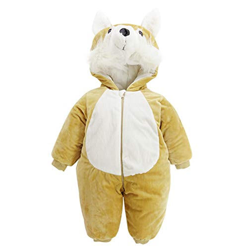 JSIHENA Schlafsack Baby Strampler für Kinder sowie Neugeborene Overalls aus Baumwolle für Herbst und Winter Mach dir Keine Sorgen über Erkältungen in der Nacht,FoxL