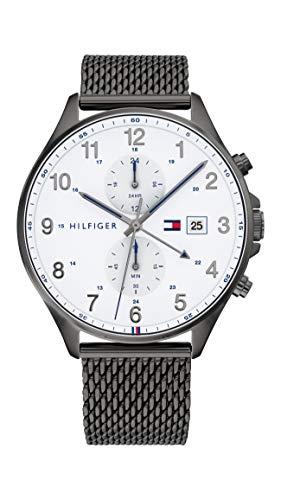 Tommy Hilfiger Analoog Quartz Horloge voor heren met RVS Band 1791709