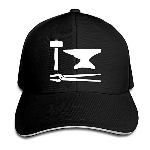 ZhangLinFu Gorra de béisbol de Martillo de Herrero Personalizada para Hombres Gorra de béisbol Lisa Ajustable Baseball Cap Sandwish Hat