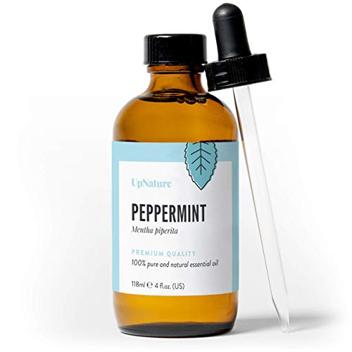 UpNature - Peppermint Essential Oil - 100% Pure - Great for Aromatherapy, Helps Relieve Migraines - With Dropper (4 oz.)