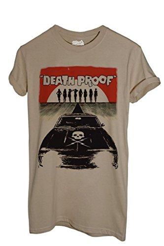MUSH T-Shirt Death Proof A Prova di Morte Tarantino - Film by Dress Your Style - Uomo-L-Sabbia
