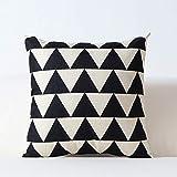 Nordic schwarz und weiß kissen geometrische gitter gestreiften einfache kissen sofa wohnzimmer...