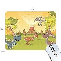 マウスパッド かわいい 恐竜 古代 子供絵 高級 ノート パソコン マウス パッド 柔らかい ゲーミング よく 滑る 便利 静音 携帯 手首 楽
