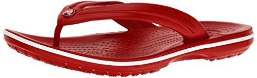 crocs Crocband Flip 11033 Unisex-Erwachsene Zehentrenner, Rot (Pepper/White), 36/37 EU (Herstellergröße: M4/W6)