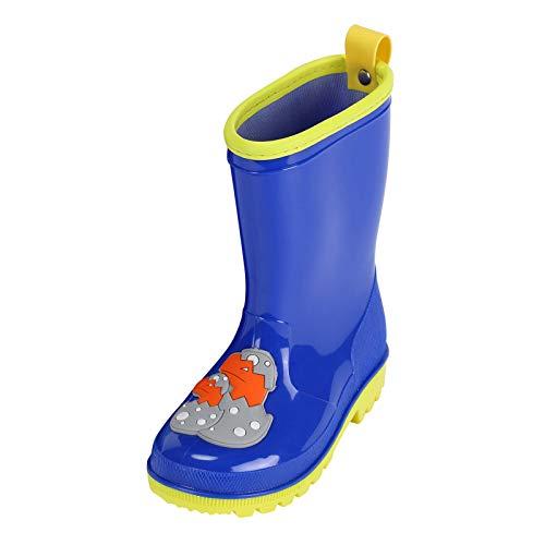 VCTKLN Botas de lluvia suaves y resistentes al agua, antideslizantes, para niños y niñas azul 24 EU