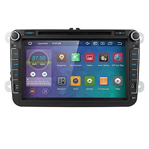 Ossuret Android 10 Autoradio DVD Player GPS Can-Bus Mirrorlink Bluetooth OBD2 8 pollici Multi Touch Screen Back Camera per Volkswagen VW Golf Polo Passat Jetta