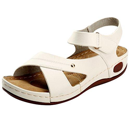Alexis Leroy Zomer Verstelbare Gesp Comfortabele Zool Platte sandalen voor Dame