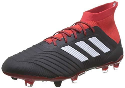 adidas Predator 18.1 Fg voetbalschoenen, heren, zwart (black/ftwwht/Red Cblack/ftwwht/Red), 41 2/3 EU