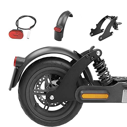 Fututech - Kit de suspensión trasera para scooter eléctrico para Xiaomi M365 1S Essential Lite Amortiguador Guardabarros Luz Trasera Accesorios Patinete Modificación (Negro para M365 1S EL)