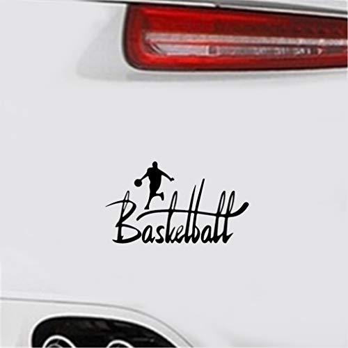 Aufkleber Auto Heckscheibe 15.6x9Cm interessante Basketball-Spieler-Dekor-Aufkleber-Schattenbild-Grafik für Auto-Laptop-Fenster-Aufkleber