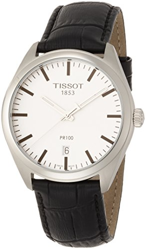 TISSOT Herren Analog Quarz Uhr mit Leder Armband T1014101603100