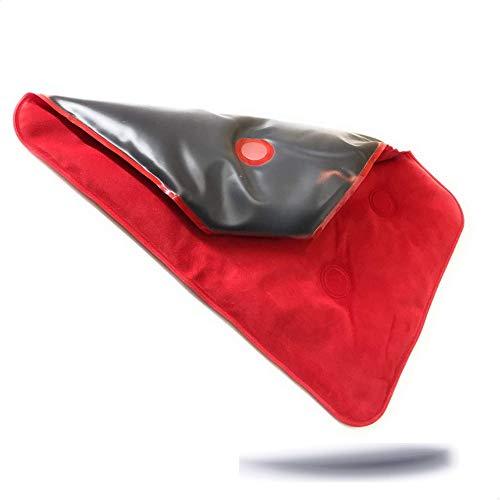 Faimex extra grosses Rücken Wärmekissen Rückenkissen Wärme Kissen MAXI Auflage mit schwarzem Naturmoor Nackenkissen Schulterkissen rot Natur Moor flexibles Schulter pad für Mikrowelle geeignet