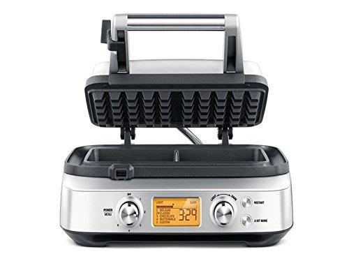 Sage Appliances SWM620 the Smart Waffle Pro, Waffeleisen, Belgische Waffeln