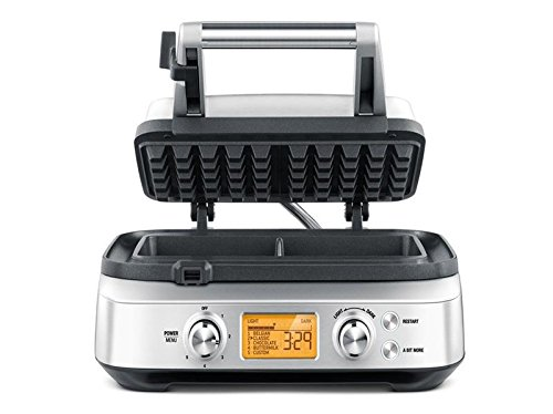 Sage Appliances SWM620 the Smart Waffle Pro, Waffeleisen, Belgische Waffeln
