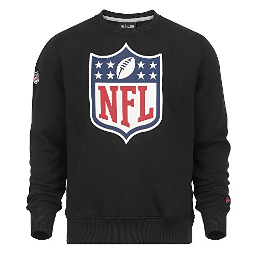 New Era Team Logo Crew NFL Shield Sweat-Shirt Homme, Noir (Black), Small (Taille Fabricant: S)