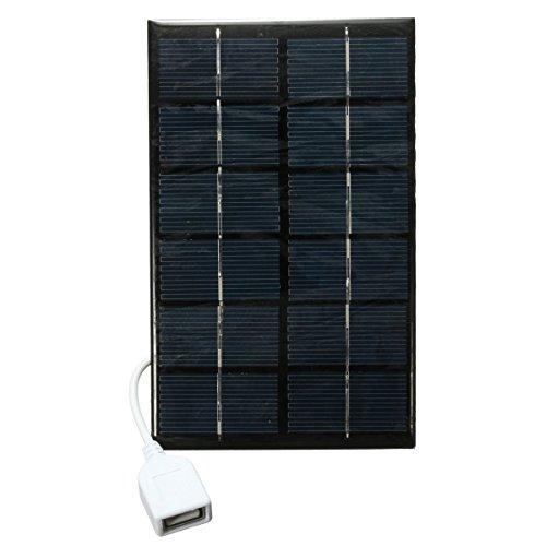 Bluelover 6V 2W Photovoltaic Charger Panneau Solaire avec Câble USB pour Mp3 Mp4 Tablet Pc Téléphones Portables