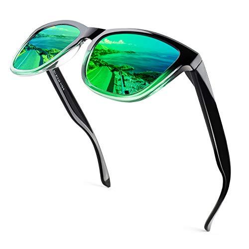 CGID Gafas de Sol Polarizadas Hombre y Mujer Retro Deportivos 80's Ultra Light Protección UV400 MJ17