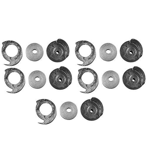 Sheens 5 Juegos de bobinas para máquinas de reparación de Zapatos y Cajas de bobinas para Piezas de máquinas de Coser