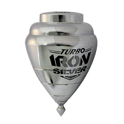 Peonza Trompo Turbo Iron Silver Metal