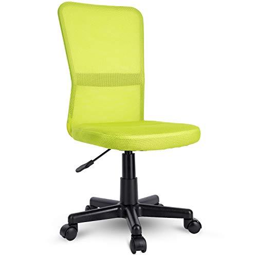 TRESKO Silla de Oficina Escritorio giratoria, Disponible en 7 Variantes de Colores, con Ruedas para Suelos Duros, Regulable en Altura de Forma Continua, Respaldo ergonómico (Verde Claro)