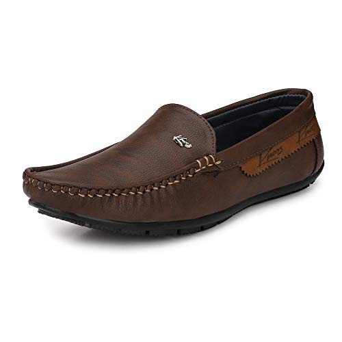 KNOOS Men's Comfort Casual Loafers-(BOB1012-BR-10) Brown