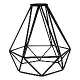 HXHON - Pantalla de lámpara de metal con forma de diamante para lámpara de techo, color negro, 1 unidad