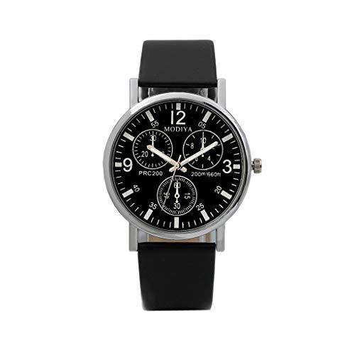Herren Armbanduhr FGHYH Uhren Quarz Herrenuhr Blue Glass Belt Watch Men Watch Uhr
