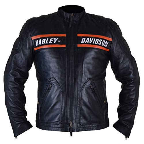 WiOnline WWE Goldberg Chaqueta Motera para Hombre en Cuero Genuino (XS-5XL) 9795 WWE Superstar Goldberg Chaqueta