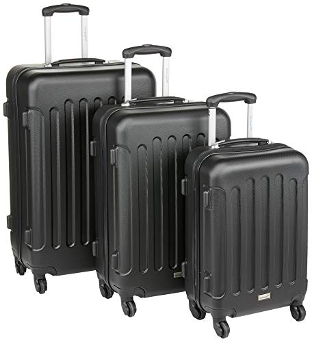 Packenger 3er Travelstar Trolley Hartschale, M, L & XL, Koffer-Set, Anthrazit