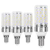 SanGlory 9W E14 LED del Maíz de La Lámpara, Blanco Frio 6000K, Ángulo de Haz 360° 950 Lumen Equivale a 80W Incandescente, Edison E14 Bulbos LED para el Hogar, Baño, Cocina, Cuarto - 4 unidades