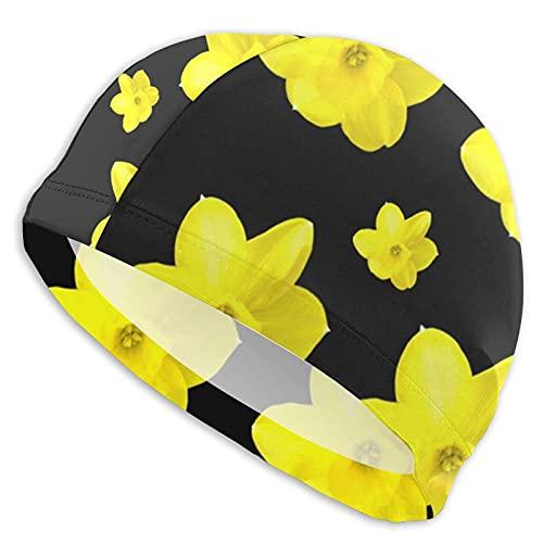 Tcerlcir Gorro Natación Cinco Flores Amarillas Gorro de...