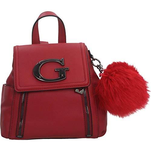 Guess Mochilas Mujer Karola Backpack para Mujer Rojo Talla única