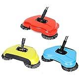 Home Manual Push Spazzola Rotante Scopa per la Pulizia del Pavimento Domestico Mop Risparm...