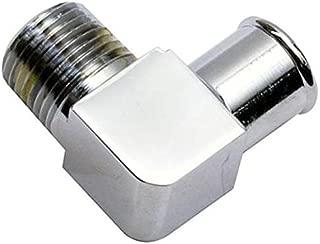 Chrome 90 Degree Heater Hose Fitting, 3/4 Inch Hose