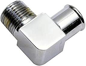 Chrome 90 Degree Heater Hose Fitting, 3/4 Inch Hose