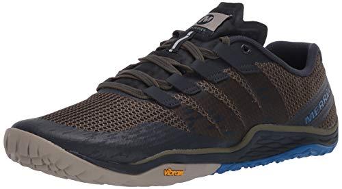 Merrell Mens Trail Glove 5 Running Shoe, Green, 9