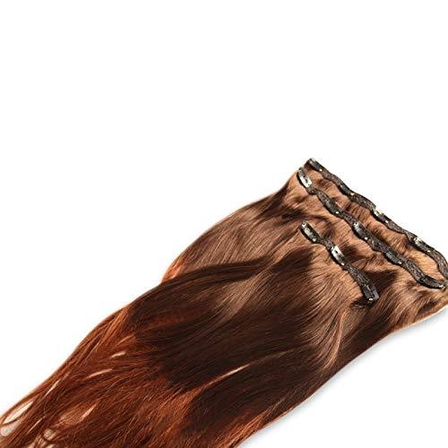Extension à clips 3 bandes Mega Volume Tie and Dye Brun et Cuivré 50cm